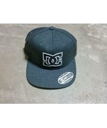 DC SHOES Cap Hat Baseball Cap Logo 210 Fitted Flexfit charcoal 6-7/8 - 7... - $24.99