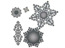 Spellbinders Shapeabilities Ironwork Motifs Die Set #S5-059, Cut and Emboss