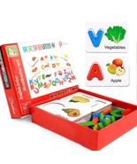 Toys Puzzle Education Baby Learning Abc Alphabet Letter Cards  Fruit Veg... - $19.77+