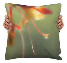 Green Throw Pillow, Floral Throw Pillow, Flowers Accent Pillow, Cushion ... - $29.50