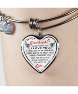 To My Granddaughter - Grandma Loves You Luxury Bangle Necklace Gifts Fro... - $31.95