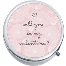 Will You Be My Valentine Medicine Vitamin Compact Pill Box - $9.78