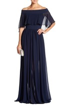 Dress the Population Violet Off The Shoulder Chiffon Gown SZ M ($294) - $94.46