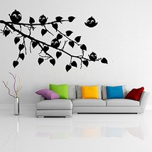 ( 28'' x 18'') Vinyl Wall Decal Huge Unique Tree with Falling Leafs / Nature Art - $24.17