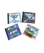 Flight Simulation Games PC-CD ROM Lot Of 4 F-16, F-15, Flanker 2.5 Fight... - $27.10