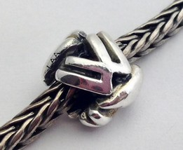 Authentic Trollbeads Sterling Silver Letter W Charm 11144W, New - $22.80
