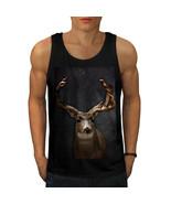 Beast Wild Animal Deer Tee Buck Male Men Tank Top - $12.99