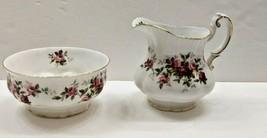 Paragon England Bone China MINUET Pattern Creamer & Sugar Bowl (NO LID) - $34.60