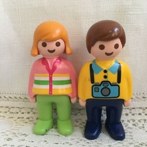 1990 PLAYMOBIL Geobra People Figures Male Female Tourist - $4.94