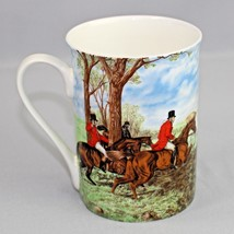 Stechcol English Fox Hunt Coffee Mug Gracie Bone China Coastline Imports - $19.99