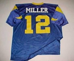 Chris Miller #12 L.A. St. Louis Rams NFL NFC 1994 - 1995 Blue Yellow Jer... - $79.19