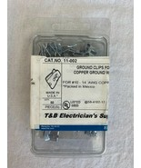 T&B TE11002 Grounding Clip for Copper Ground Wire #10 12 14 AWG Box of 50 - $23.65