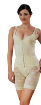 NEW WOMEN'S PREMIUM UNIQUE CLASSIC ORIGINAL SLIMMING LACE CORSET BEIGE SIZE XL