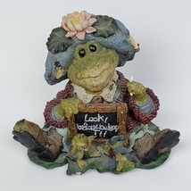 Wee Folkstone Ribbit & Co Ms Lilypond Frog Figurine Boyds Bears & Friend... - $14.99