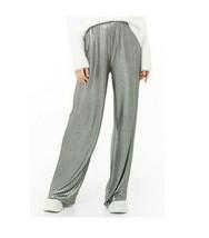 BE BOP Juniors' Pleated Metallic Silver Pull On Pants Size Medium $44 - $29.69
