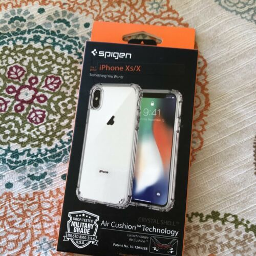 Spigen Crystal Shell Air Cushion Technology Case for iPhone Xs Clear NWT Bumper image 4