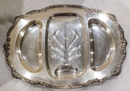 """1847 Rogers Bros Heritage Silverplate Footed 22"""" Meat Platter Serving Tray #9457 - $71.25"""