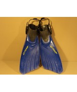 Tusa Scuba Fins Open Heel Blue/Black Size Regular Cetusy Symmetric - $45.52