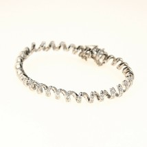 18k Gold Bangle Bracelet with diamonds for women UK BHS - $2,270.78