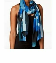 Calvin Klein Abstract Painterly Chiffon Scarf & Cover-up - $19.59
