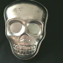 Vintage Skull Aluminum Baking Pan Halloween - $21.78