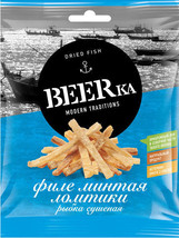"""""""Beerka"""", slices of dried Pollock fillet, 25 g from RUSSIA - $5.99"""