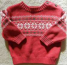 Gymboree Snow Cool Sweater Size 3-6 3 6 Months - $6.79
