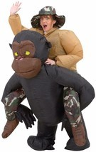 New Funny Ape Rider RIDING GORILLA INFLATABLE INSTANT COSTUME Airblown G... - $58.77