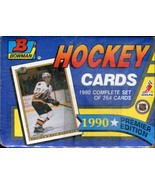 OFFICIAL 1990 BOWMAN HOCKEY 264 CARDS - COMPLETE FACTORY SET - SEALED - $4.00