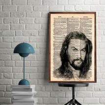 Celebrity Art Prints-Jason Momoa Art Print-Movie Art Print-Jason Momoa-H... - $11.82