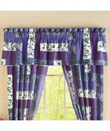 Caledonia ~ Floral ~ Purple Window Valance ~ Floral Design ~ Poly/Cotton - $24.75