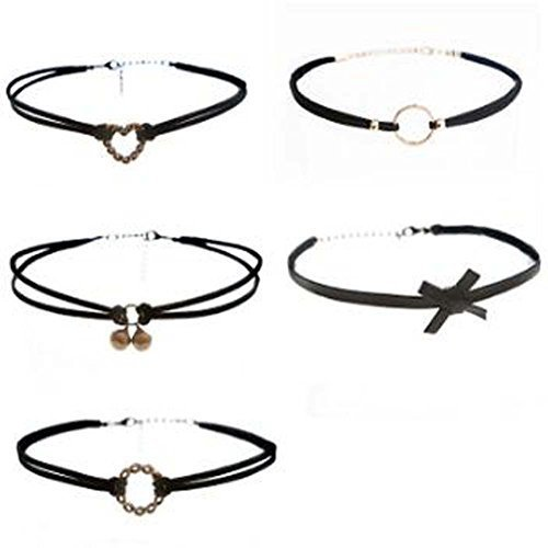 All-Purpose Style Fashion Necklace Choker 5 Pcs Collar Girls Lady
