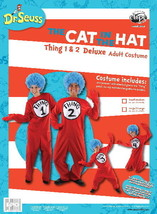 Dr. Seuss The Cat In The Hat Things Deluxe Adult Costume Kit Large/XL NE... - $60.94