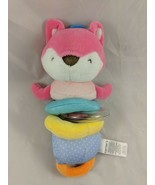 "Carters Pink Fox Plush Activity Rattle Toy Vibrates 9"" 2015 Stuffed Animal - $11.66"