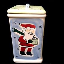 Eddie Bauer Home Christmas 4 Scene Cookie Jar - $38.60
