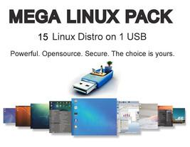 15 in 1 Multiboot Linux 16GB Live USB Mint Lubuntu Lxle Bodhi Anix 4M Q4... - $13.12