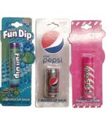 Lot of 3 lip balm Apple, strawberry, diet Pepsi - $10.00