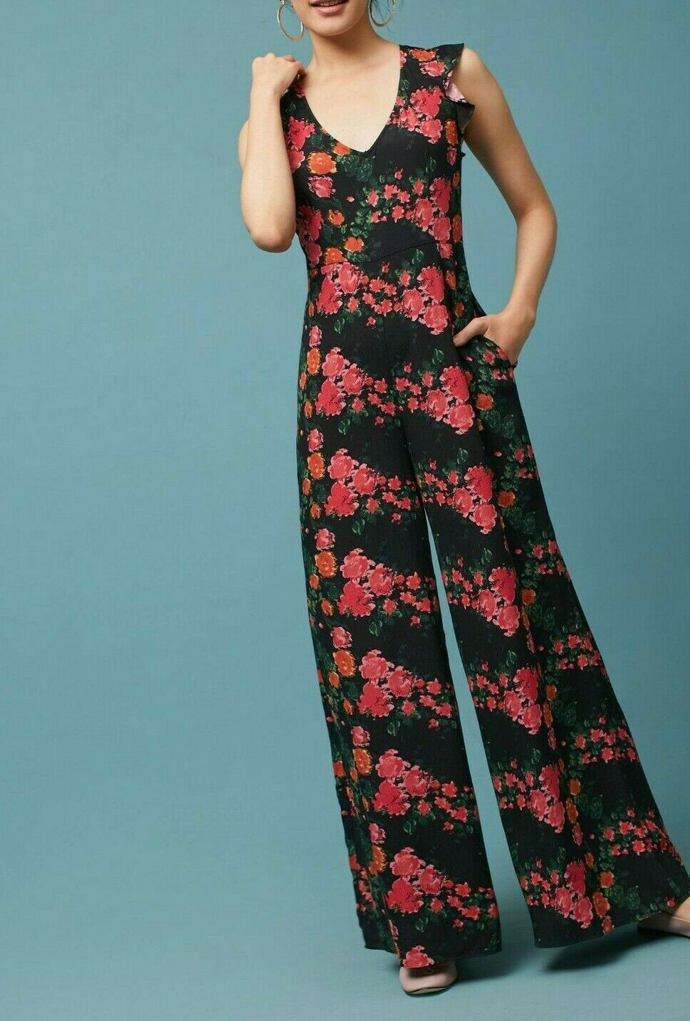 Anthropologie Laurette V-Neck Jumpsuit by Tracy Reese $198 Sz S - NWOT
