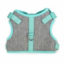 MARTHA STEWART Tweed Adjustable Mint Comfort Harness Pet Dog Grey Teal S... - $12.82