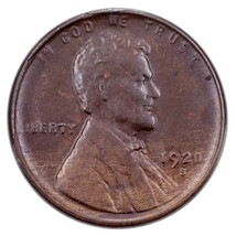 1920-S 1C Lincoln Cent in BU Condition, Brown Color, Nice Eye Appeal & L... - $143.54