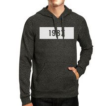 198X Unisex Dark Grey Pullover Hoodie Funny Quote Gift Idea For 80s - $25.99+