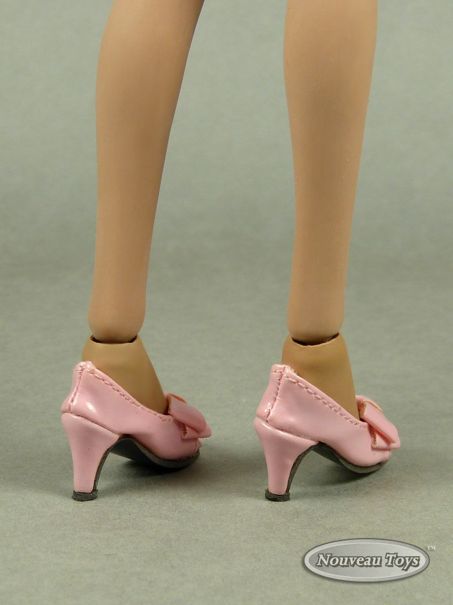 Hot Toys Play Toy 1//6 Scale Phicen Kumik NT Female Black Ribbon Heel Shoes