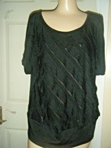 AGB STRETCH RAYON BLEND KNIT CAP SLEEVE TOP SIZE XL - $14.50