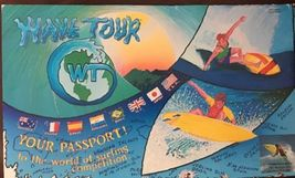 WT World Tour Surfing Board Game Surfer Gift Surf Competition Rare Vinta... - $14.07