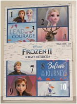 Disney Frozen 2 Movie- 10 Days of Socks Girls size 4-10 New - $18.94