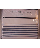 Tommy Hilfiger Baja Stripe Navy White Sheet Set Queen - $75.00