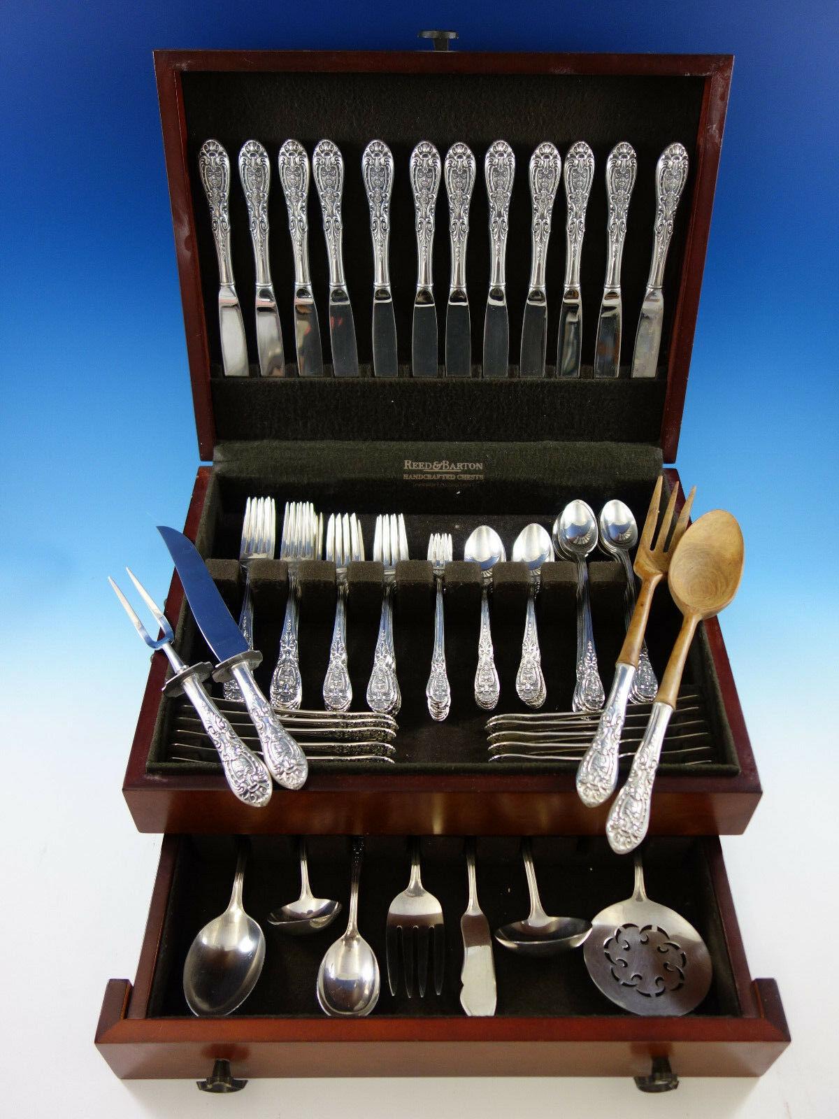 Southern Grandeur By Easterling Sterling Silver Flatware 12 Set Service 95 pcs - $5,695.00