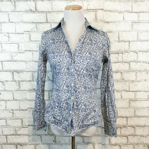 Brooks Brothers 346 Women's Blue Classy Floral Button Front Shirt Size 4 - $22.49