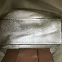 Tory Burch Bark/Light Gold Pebbled Leather Perry Tote Women's Bag image 6