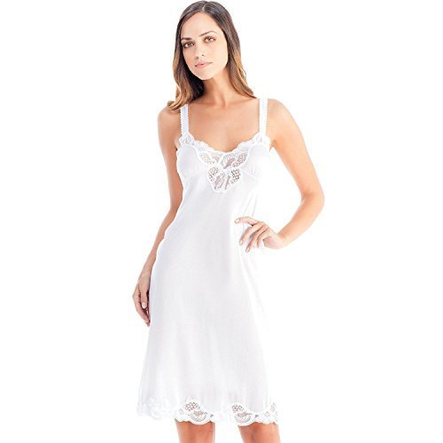 Ilusion Women's Nylon Full Slip with Lace Trim and Adjustable Straps 2012 (34, W